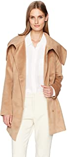 Jack by BB Dakota Women's Henry Asymetrical Brushed Wool-Like Coat