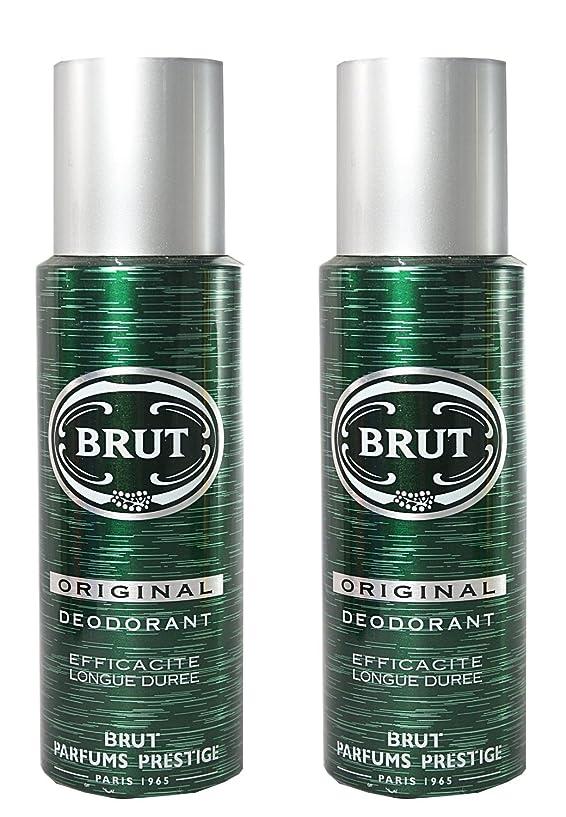 ハードリングクラッチ島BRUT Original Deodorant Spray For Men, 200ml (Pack of 2)