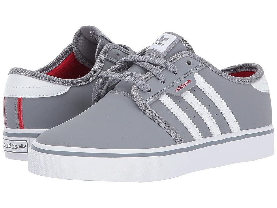 adidas Skateboarding Seeley J (Little Kid/Big Kid) (Grey/Footwear White/Scarlet) Skate Shoes