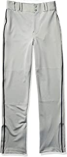CHAMPRO Unisex Sports Youth Triple Crown Open Bottom Piped Pants, Graphite, Navy, X-Large