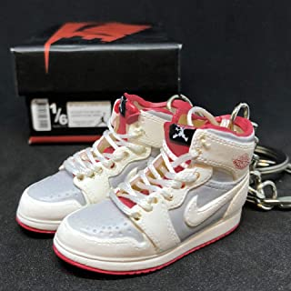 Pair Air Jordan I 1 Retro Hare Bugs Bunny WB OG Sneakers Shoes 3D Keychain Figure 1:6 + Shoe Box