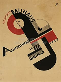 Doppelganger33LTD EXHIBITION BAUHAUS WEIMAR ICON GERMANY VINTAGE RETRO ADVERTISING 24x18 INCH (61x46 Cms) POSTER 1642PYLV by Large Posters