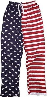 NYC FACTORY USA Flag Lounge Pants Pajama Bottoms Pride America Patriot Mens Ladies