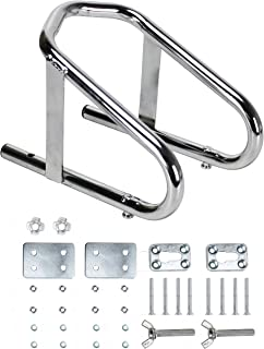 Extreme Max 5001.5763 Deluxe Chrome Motorcycle Wheel Chock-5.5