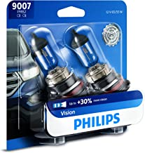 Philips 9007 Vision Upgrade Headlight Bulb with up to 30% More Vision, 2 Pack