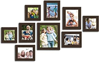 Art Street Diana Texture Set of 9 Individual Wooden Wall Photo Frames