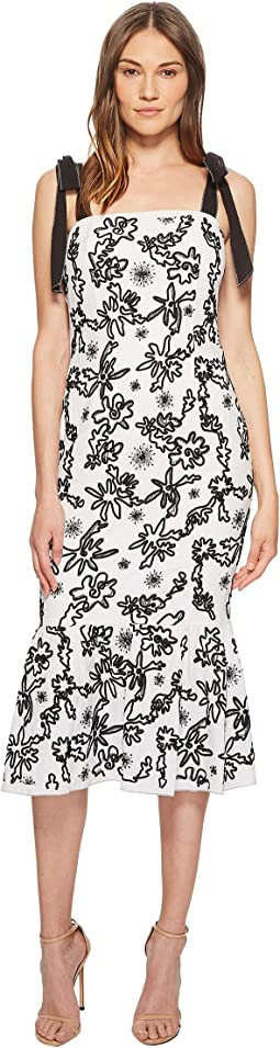 Lily Embroidered Midi Dress