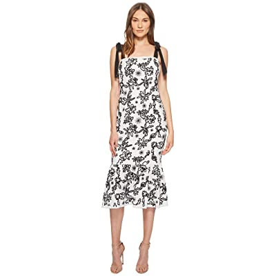 Rachel Zoe Lily Embroidered Midi Dress (Ecru/Black) Women
