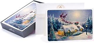 Hallmark Thomas Kinkade Boxed Christmas Cards, Santa (16 Cards and 17 Envelopes)