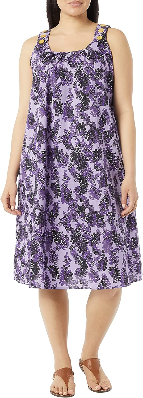 AmeriMark Women's 送料無料でお届けします 割引も実施中 Sleeveless Print Sun with Side Dress Pocket