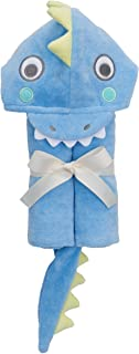 Elegant Baby Top Selling Bath Gift - Cotton Hooded Towel Wrap, Blue Sea Serpant