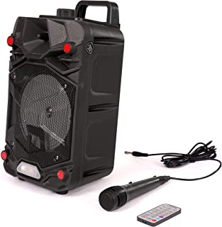 Impex Portable Trolley Speaker with Wireless Mic, Remote and Disco Light - TS 4001