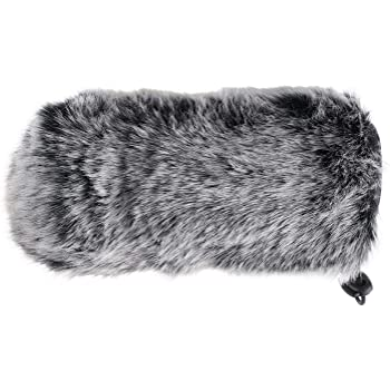 YOUSHARES Microphone Deadcat Windscreen - Outdoor Wind Shield Mic Windshield Muff Fur Custom Fit for Rode VideoMic GO Camera Microphone