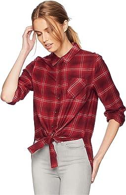 Button Down Shirt w/ Front Tie