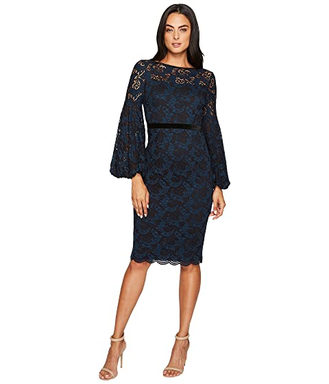 Maggy London Lace Bishop Sleeve Dress At 6pm