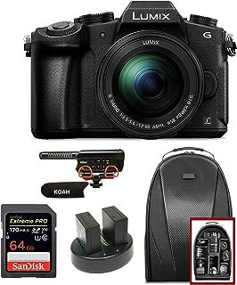 Panasonic LUMIX DMC-G85MK 4K Mirrorless Lens Camera Kit, 12-60mm Lens, 16 Megapixel (Black) Bundle