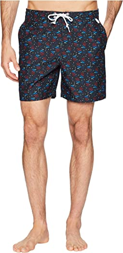 Bowling Carpet Print Volley Trunks
