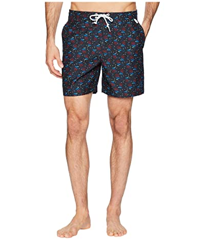 Original Penguin Bowling Carpet Print Volley Trunks (True Black) Men