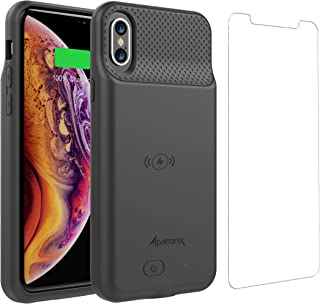 Alpatronix BXS Battery Case with Wireless Charging Compatible for iPhone Xs & X (5.8-inch) 2020 Upgrade Now Compatible with Lightning Audio (Black)