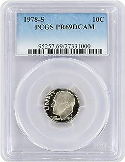 1978 S Proof Roosevelt Dime New Blue Label Holder Dime PR 69 DCAM PCGS