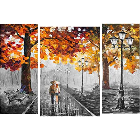 Saumic Craft Set of 3 Moder Art Matte Textured Self Addeshive UV Coated 3D MDF Framed Painting for Home Decor with a Special Free Present Inside (12 inch x 18 inch Multicolor)