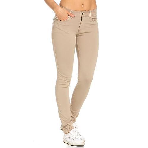 d1f6336ac37 Classic Stretch Knit Skinny School Pants in Khaki (Plus S-3XL)