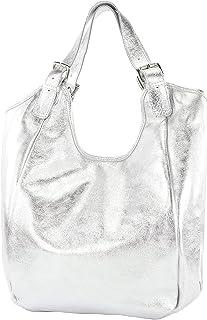 modamoda de - T227 - Ital. Shopper Schultertasche Large aus Leder
