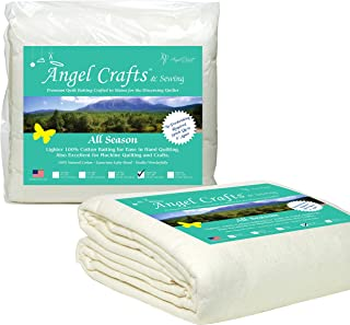 Angel Crafts and Sewing Cotton Batting for Quilts: Purely Natural All Season Quilt..