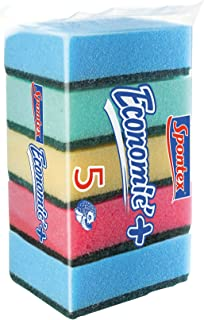 Spontex 61590001 Estropajos con Esponja de Poliuretano, 5