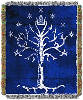 Warner Bros. The Lord of the Rings Tree of Gondor Woven Tapestry Throw Blanket