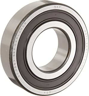 SKF 6303 2RSJEM Medium Series Deep Groove Ball Bearing, Deep Groove Design, ABEC 1 Precision, Double Sealed, Contact, Steel Cage, C3 Clearance, 17mm Bore, 47mm OD, 14mm Width, 1470lbf Static Load Capacity, 3040lbf Dynamic Load Capacity