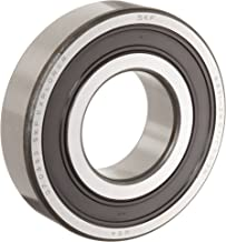 SKF 6302 2RSJEM Medium Series Deep Groove Ball Bearing, Deep Groove Design, ABEC 1 Precision, Double Sealed, Contact, Steel Cage, C3 Clearance, 15mm Bore, 42mm OD, 13mm Width, 1210lbf Static Load Capacity, 2560lbf Dynamic Load Capacity
