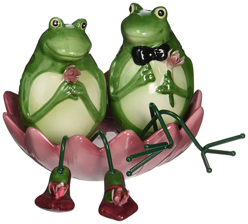コメント策定する中庭Appletree Design Alfrogo and Frogalina Frog Salt and Pepper Set 8.3cm 3-Piece
