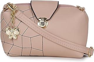 Butterflies Women Sling Bag (Beige) (BNS-B-8032#PK)