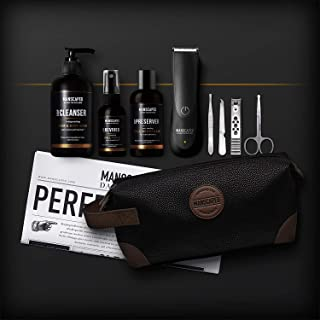 MANSCAPED™ Perfect Package 2.0 Kit Contains: The Lawn Mower™ 2.0 Electric Groin Hair Trimmer, Ball Deodorant, Body Wash, P...