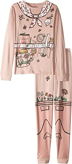 Andrea Gardener Printed Cotton Set w/ Top and Jogger Pants (Toddler/Little Kids/Big Kids)