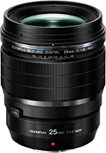Olympus M.Zuiko Digital ED 25mm f1.2 PRO Lens, Black (Renewed)