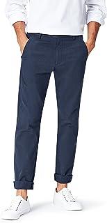 Navy Hem /& Seam Pantaloni Formali Slim Fit Uomo 34W // 33L Marchio Label: 34W // 33L Blu