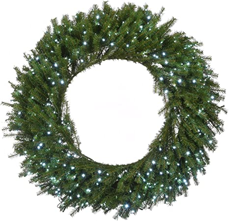 National Tree Company 48 Memory Shape Norwood Fir Wreath With White Led Lights Green Home Kitchen