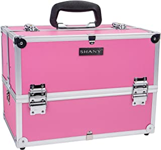 SHANY Essential Pro Makeup Train Case with Shoulder Strap and Locks – Pink