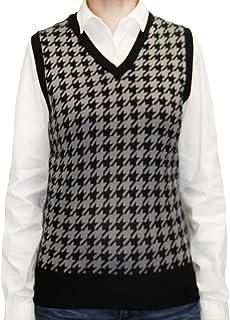 174e9b5acdb648 Blue Ocean Ladies Houndstooth Sweater Vest