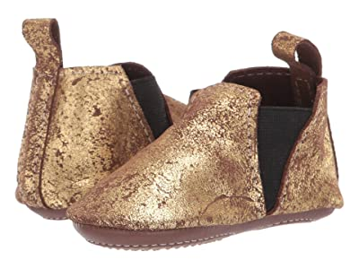 Freshly Picked Nye Chelsea Boot Mini Sole (Infant/Toddler) (Gold/Brown) Girl