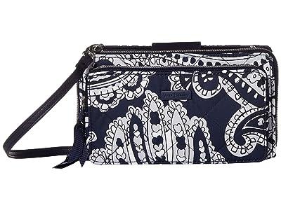 Vera Bradley Deluxe All Together Crossbody (Deep Night Paisley Neutral) Cross Body Handbags