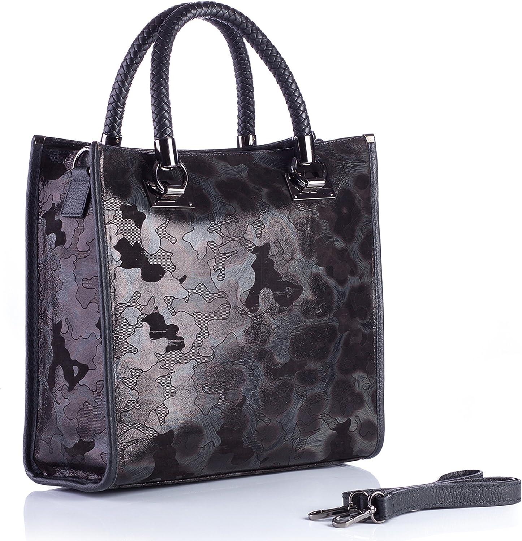 Damen Handtasche 300006 Damentasche Henkeltasche Tragetasche Umhängetasche B07BL2WQ3C