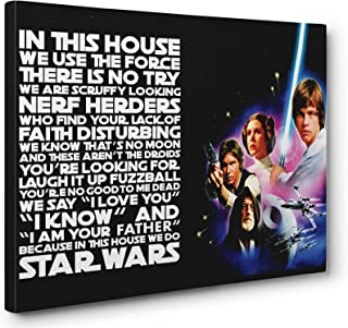 OneCanvas in This House WE DO Star Wars Quote Wall Art Gallery Wrapped Canvas Print (Small 12x18in.)