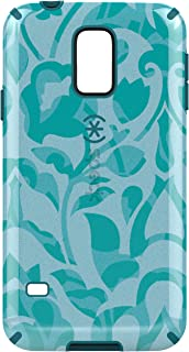 Speck CandyShell Inked Hard Shell Clip-On Case Cover for Samsung Galaxy S5 - WallFlowers Blue/Atlantic Blue