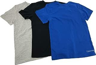 Calvin Klein Boys' Crewneck Undershirt Solid T-Shirt, 3 Pack