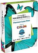 Hammermill Paper, Premium Laser Print Paper, 8.5 x 11 Paper, Letter Size, 24lb Paper, 98 Bright, 1 Ream / 500 Sheets (104604R) Acid Free Paper