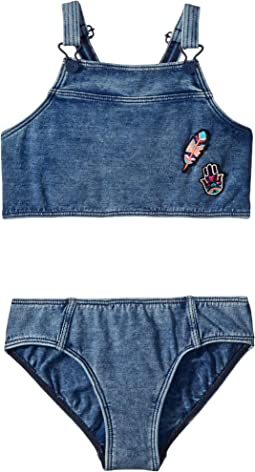 Seafolly Kids - Moonchild Denim Tankini Set (Big Kids)