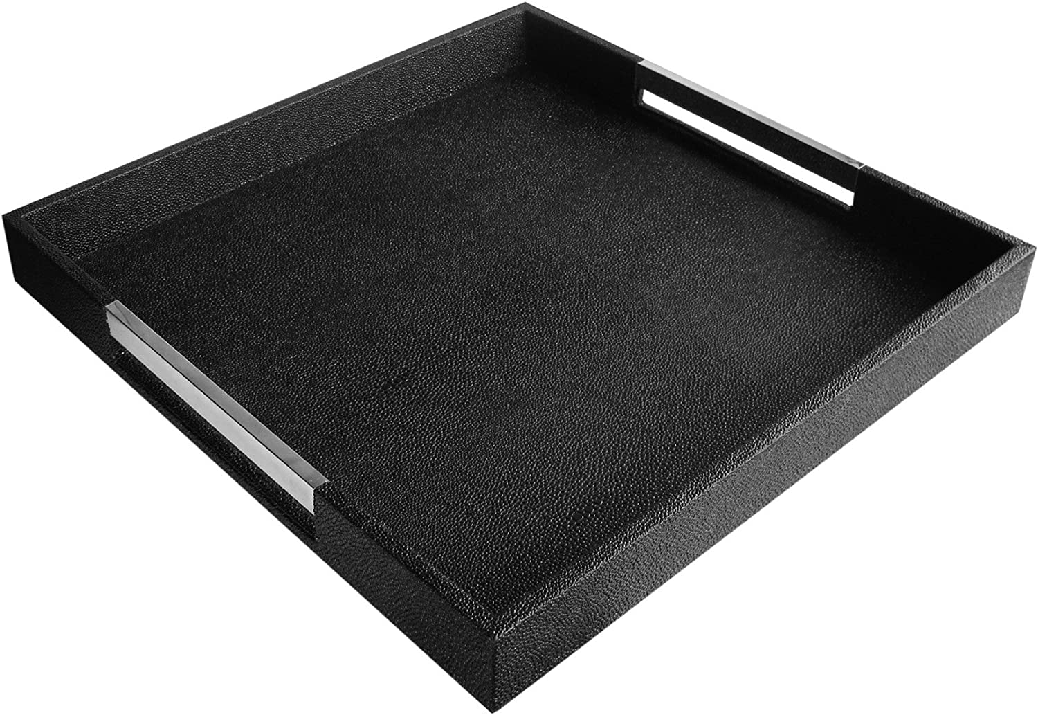 Outlet sale feature American Atelier Square Serving Silver Tray 18x18 Black Portland Mall